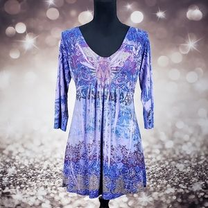 Blue Dream One World Small Blouse